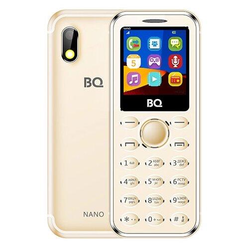 Телефон BQ 1411 Nano золотой мобильный телефон bq mobile bq 1411 nano gold
