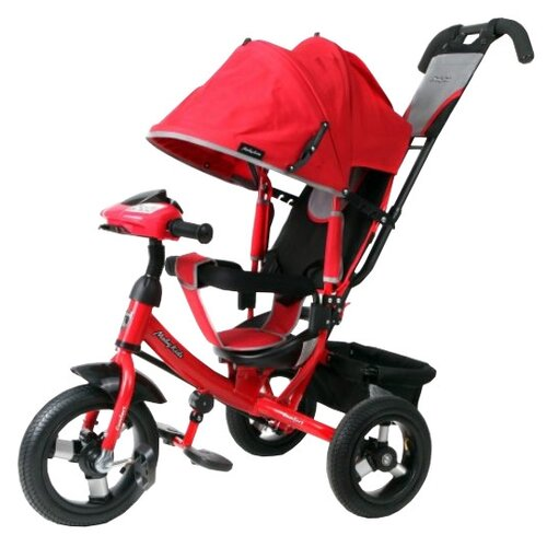 Трехколесный велосипед Moby Kids Comfort 12x10 AIR Car1 красный велосипед трехколесный funny scoo volt air ms 0576 фиолетовый