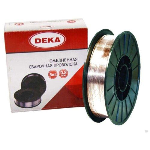 Проволока из металлического сплава Deka ER70S-6 0.8мм 5кг проволока из металлического сплава барс er 70s 6 0 8мм 1кг