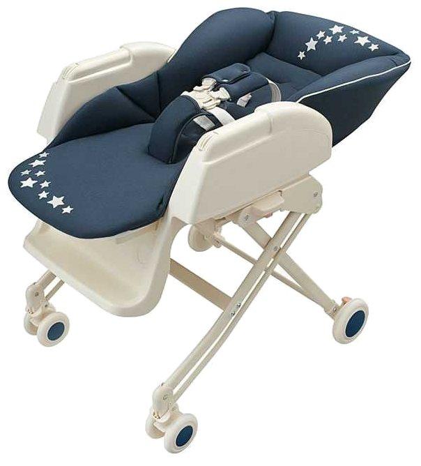 Шезлонг на колесиках для новорожденных