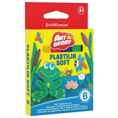 Пластилин ErichKrause Artberry 6 цветов/90г (33297)Пластилин и масса для лепки<br>
