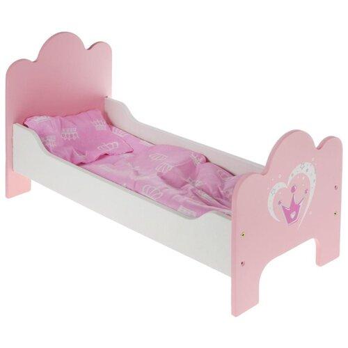 Mary Poppins Кроватка Корона (67114) бело-розовый mary poppins мебель для кукол mary poppins корона кроватка каталка карета