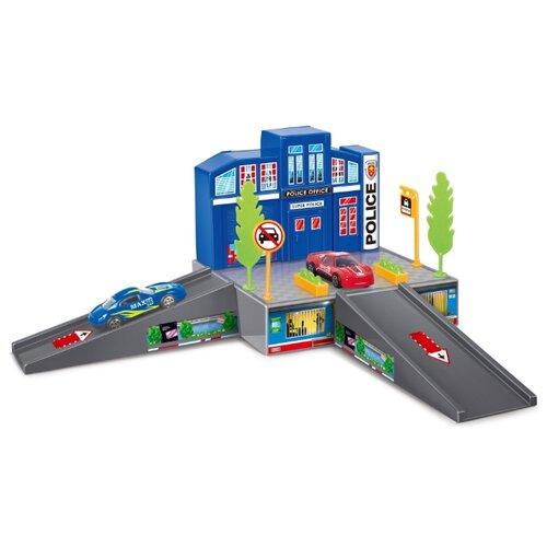 Dave Toy Игровой набор Полицейский участок 32017 синий/серый недорого