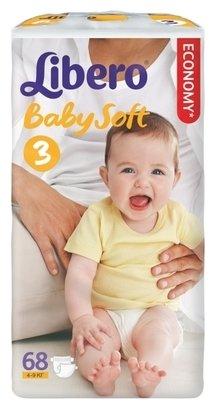 Libero подгузники Baby Soft 3 (4-9 кг) 68 шт.