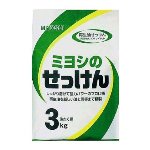 Стиральный порошок Miyoshi На основе натуральных компонентов, картонная пачка, 3 кг недорого