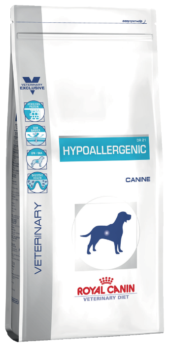 Ветеринарный сухой корм для собак с пищевой непереносимостью Royal Canin Veterinary Diet Canine Hypoallergenic DR21, 14 кг