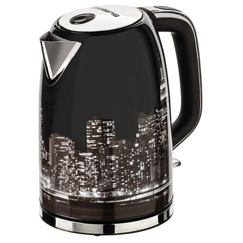 Фото - Чайник Polaris PWK 1762CA City, black чайник электрический polaris pwk 1762ca city 2200 вт чёрный рисунок 1 7 л нержавеющая сталь