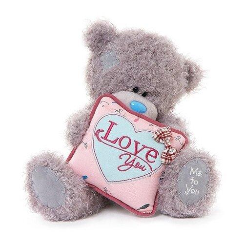 Мягкая игрушка Me to you Мишка Тедди с подушкой Love you 25 см