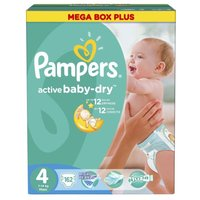 Подгузники Pampers Active Baby-Dry 4 (7-14 кг) 162 шт.