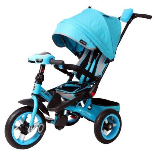 Купить Трехколесный велосипед Moby Kids Leader 360° 12x10 AIR Car бирюзовый, Трехколесные велосипеды