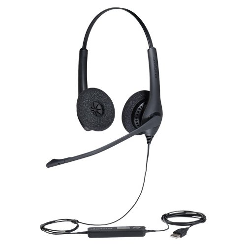 Компьютерная гарнитура Jabra BIZ 1500 Duo USB черный jabra pro 9450 flex duo 9450 29 707 101