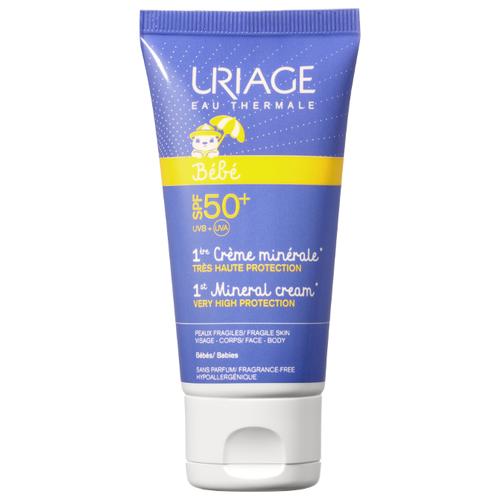 Uriage Bebe первый минеральный крем SPF 50 50 мл uriage крем минеральный spf 30 тюбик барьесан 100 мл