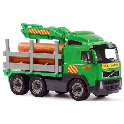 Фото - Лесовоз Полесье Volvo (8756) 45 см полесье набор игрушек для песочницы 468 цвет в ассортименте