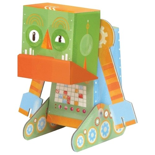 3D-пазл Krooom Сердитый робот (k-463), 6 дет. krooom игрушки из картона 3d пазл монстры k 701