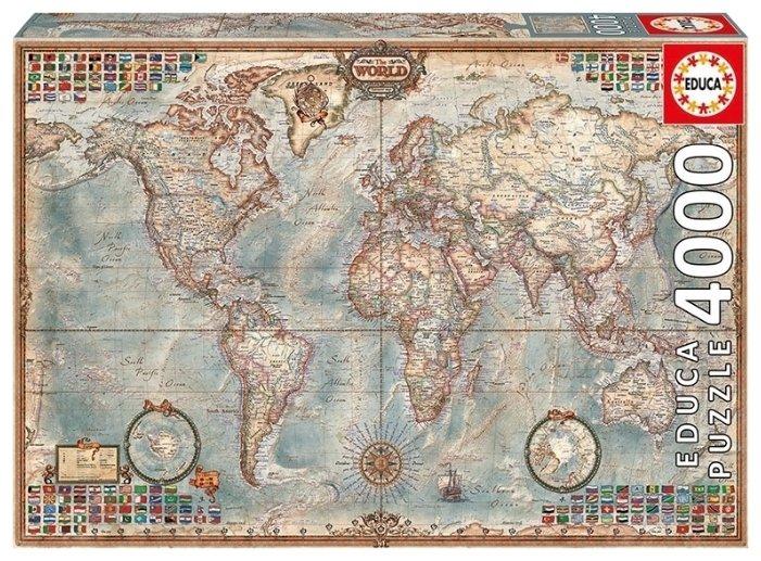 Пазл Educa Политическая карта мира (14827), 4000 дет.