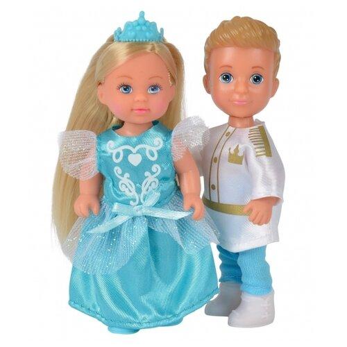 Фото - Набор кукол Simba Тимми и Еви - принц и принцесса 12 см 5733071WBO набор кукол simba еви с малышом на прогулке розовая коляска 12 см 5736241 2