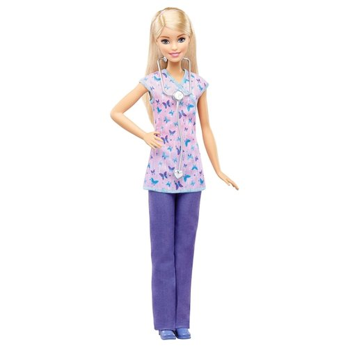 Кукла Barbie Кем быть? Медсестра, 29 см, DVF57 barbie кукла медсестра dvf57