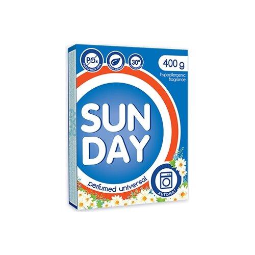 Стиральный порошок SUNDAY Универсал парфюмированный (автомат), 0.4 кг стиральный порошок большая стирка универсал 2 4 кг