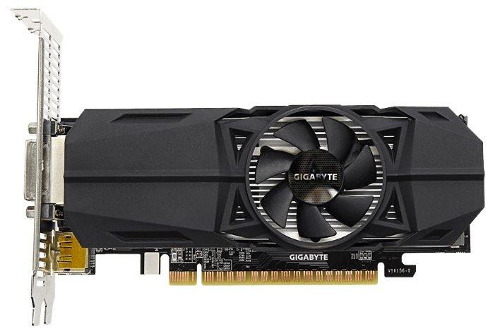 GIGABYTE GeForce GTX 1050 1392Mhz PCI-E 3.0 2048Mb 7008Mhz 128 bit DVI 2xHDMI HDCP OC Low Profile