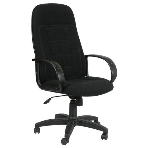 Компьютерное кресло Chairman 727 для руководителя, обивка: текстиль, цвет: 10-356 черный компьютерное кресло chairman 434n для руководителя обивка текстиль цвет вельвет черный
