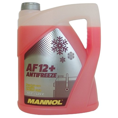 Антифриз Mannol Longlife Antifreeze AF12+ -40°C 5 л антифриз mobil antifreeze advanced 5 л