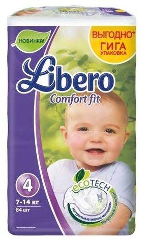 8cf17099c793 Купить Libero подгузники Comfort Fit EcoTech 4 (7-14 кг) 84 шт. в ...