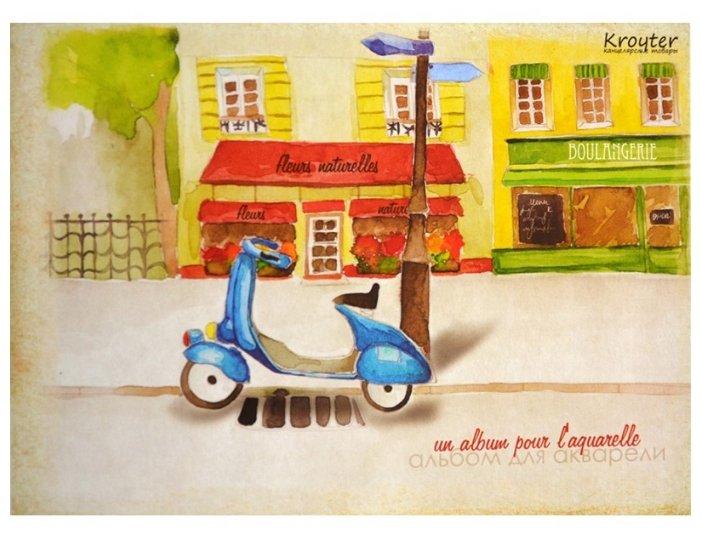 Альбом для рисования акварелью Кройтер Город 21 х 14.8 см (A5), 180 г/м², 30 л.