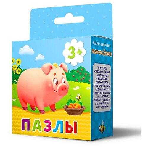 Купить Пазл ГеоДом Животные Поросёнок (4607177454351), 16 дет., Пазлы