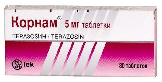 Корнам таблетки по 5 мг № 30 блистеры
