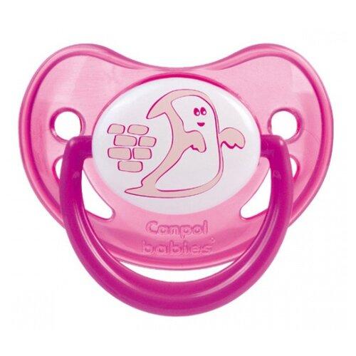 Купить Пустышка силиконовая ортодонтическая Canpol Babies Night Dreams 6-18 м (1 шт.) розовый, Пустышки и аксессуары
