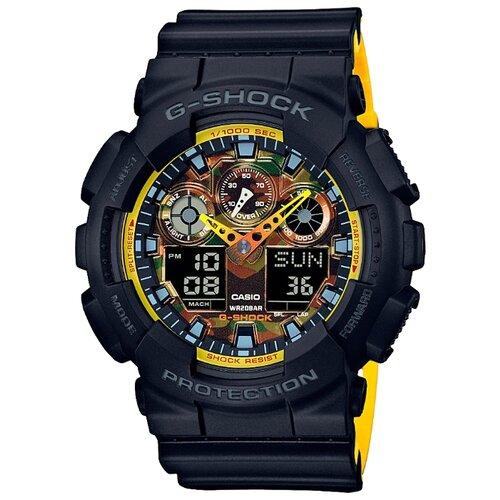 цена Наручные часы CASIO GA-100BY-1A онлайн в 2017 году