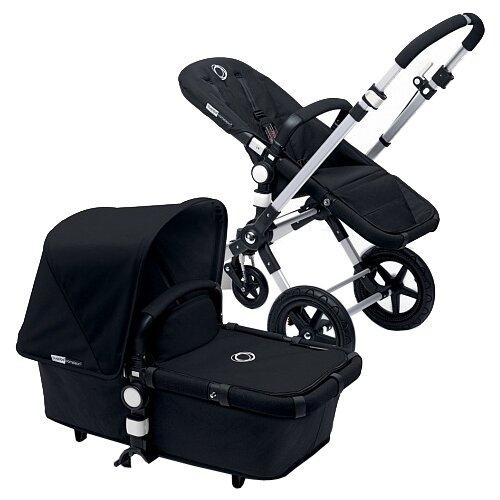 Универсальная коляска Bugaboo Cameleon 3 Plus base (2 в 1 ) (без капюшона) black/black/aluminium frame, цвет шасси: серебристый