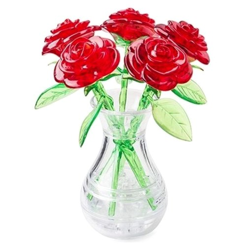 цена на 3D-пазл Crystal Puzzle Букет в вазе красный (90352), 41 дет.