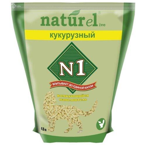 Фото - Комкующийся наполнитель N1 Naturel Кукурузный 4.5 л комкующийся наполнитель n1 naturel зеленый чай 17 5 л