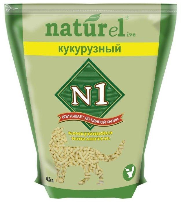 Наполнитель N1 Naturel Кукурузный (4.5 л)