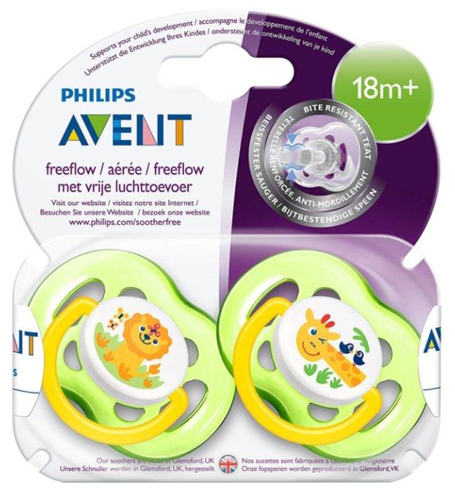 Пустышка силиконовая анатомическая Philips AVENT Freeflow SCF186/23 18+ (2 шт)
