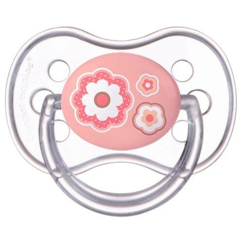 Купить Пустышка силиконовая анатомическая Canpol Babies Newborn Baby 0-6 м (1 шт) розовый, Пустышки и аксессуары