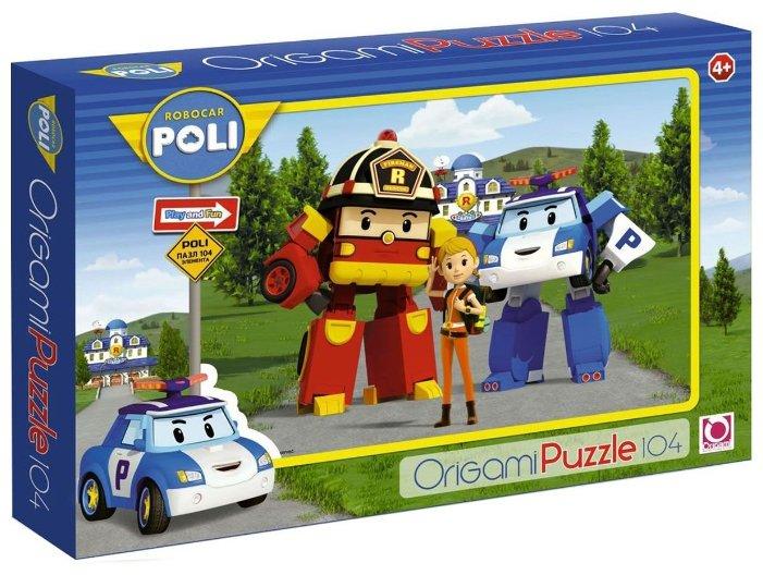 Пазл Origami Robocar Poli Рой, Джин и Поли (05799), 104 дет.