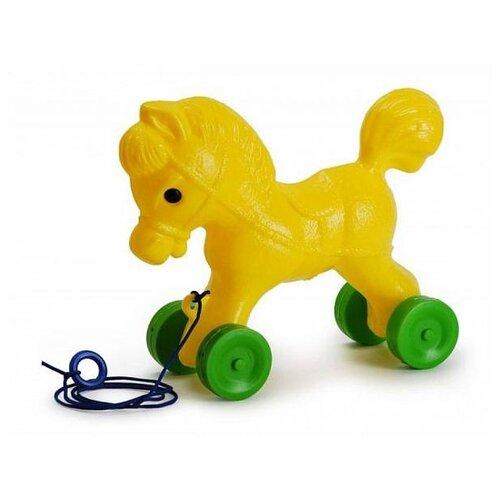 Каталка-игрушка Росигрушка Лошадка (9107) желтый/зеленый