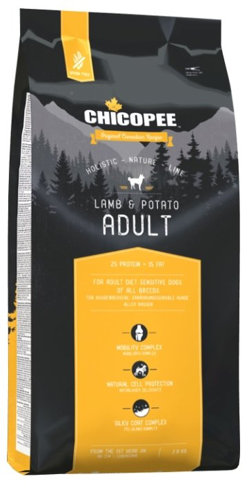 Корм для собак Chicopee Holistic Nature Line Adult Lamb and Potato