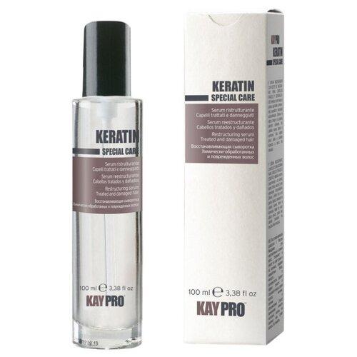 Фото - KayPro Keratin Сыворотка для волос восстанавливающая с кератином, 100 мл kaypro tecni sleek выпрямляющий крем для волос с кератином шаг 2 1000 мл