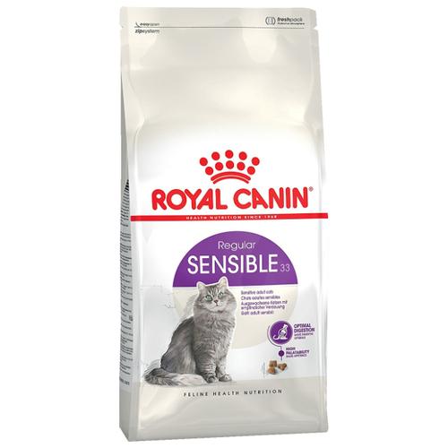 Фото - Сухой корм для кошек Royal Canin Sensible 33, при чувствительном пищеварении, профилактика МКБ 400 г сухой корм для кошек royal canin urinary s o для лечения мкб 400 г