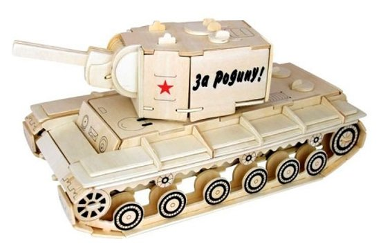 Модель Wooden Toys Танк КВ-2 80034