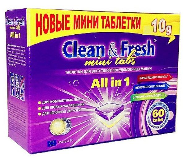 Clean & Fresh All in 1 mini tabs таблетки