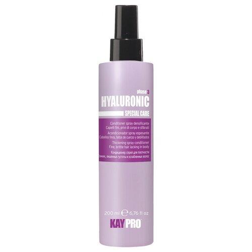 KayPro Hyaluronic Кондиционер-спрей для волос с гиалуроновой кислотой для плотности, 200 мл краска для волос kaypro kaypro ka037lwbolx4