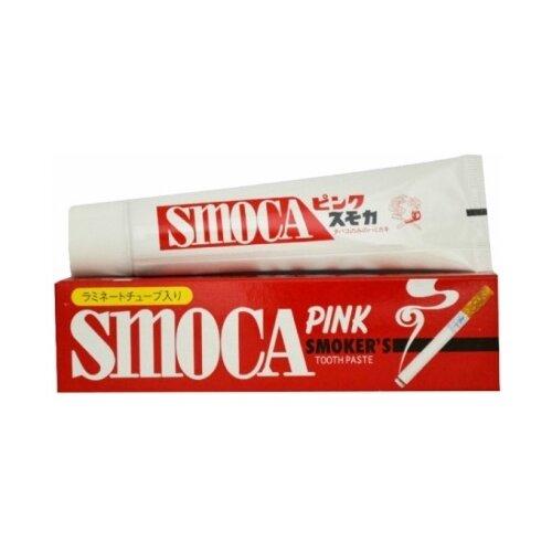 Зубная паста Smoca Pink для курильщиков, мята и зимняя зелень, 120 г