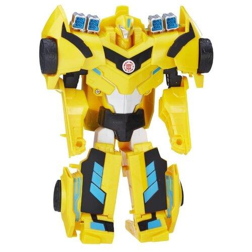 Купить Трансформер Hasbro Transformers Бамблби. Гиперчэндж (Роботы под прикрытием) C0641 желтый, Роботы и трансформеры
