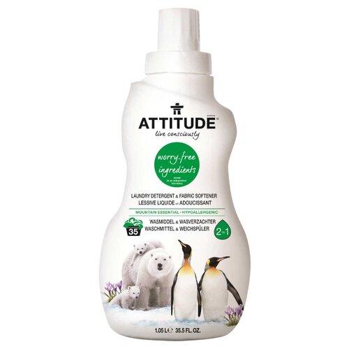 Гель ATTITUDE Mountain Essentials 2 в 1, 1.05 л, бутылка arizona cardinals attitude softee hoop set package of 2