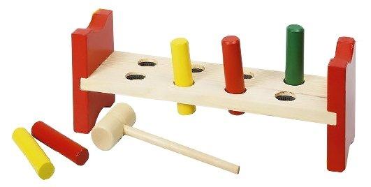 Деревянная игрушка стучалка гвоздики