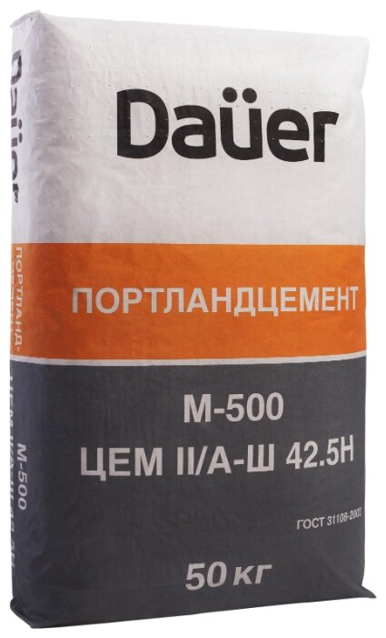 Цемент Dauer ЦЕМI I/А-Ш 42.5H М500